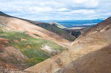Rainbow Mountains, Iceland Stock Photography