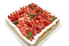 Free Strawberry Cake Royalty Free Stock Photo - 23692035