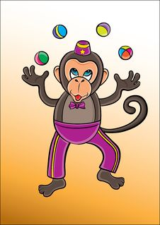 Free Monkey Circus Royalty Free Stock Image - 23692656