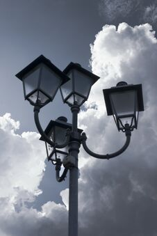 Free Lamp Against Clouds Stock Photo - 23697750