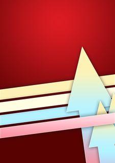 Going Up - Arrows On Red Background Royalty Free Stock Photo