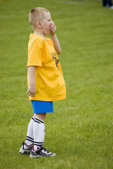 Free Bored Soccer Player Royalty Free Stock Image - 2370166