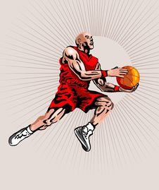 Free Basketballer Lay Up Shot Royalty Free Stock Image - 2371006