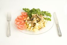Free Plate  With Vegetables Royalty Free Stock Image - 2371056