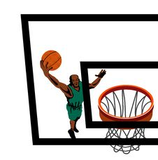 Free Basketballer Lay Up Backboard Royalty Free Stock Photos - 2371068