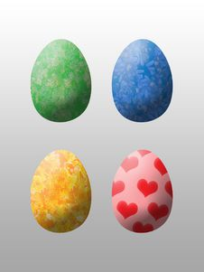 Free Four Easter Eggs Stock Photo - 2371210