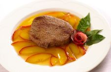 Free Beef Steak With Tangerine Sauc Stock Photography - 2371332