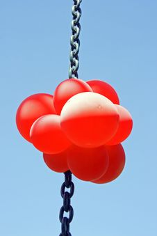 Free Red Balloons On A Chain Stock Photography - 2371922