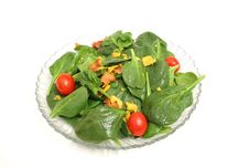 Free Spinach Salad On White Stock Photos - 2374163