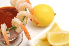 Free Shrimp Coctail On White Stock Photography - 2374452