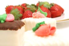 Free Petit Fours And Strawberrys Royalty Free Stock Photos - 2374458