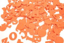 Scattered Letters On White Royalty Free Stock Image