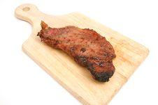 Free Steak On  Cutting Board Stock Image - 2374731