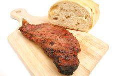Free Steak On A Cutting Board Stock Photos - 2374733