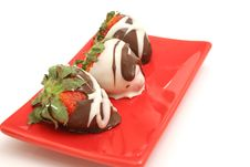 Free Chocolate Covered Strawberrys Royalty Free Stock Photos - 2374778