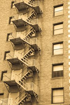 Fire Escape Ladder Royalty Free Stock Images