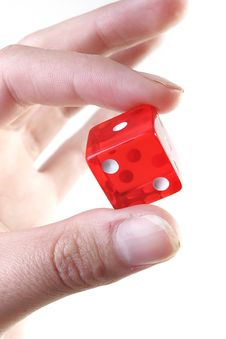 Free Fingers Holding Red Dice Royalty Free Stock Images - 2375839