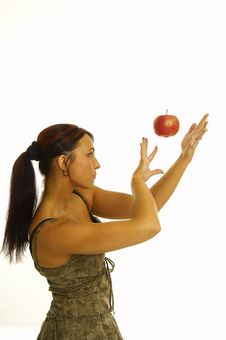 Free Healthy Girl And Apple Stock Photos - 2375993