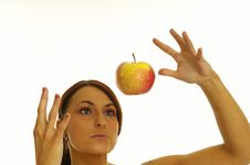 Free Healthy Girl And Apple Royalty Free Stock Photo - 2376025