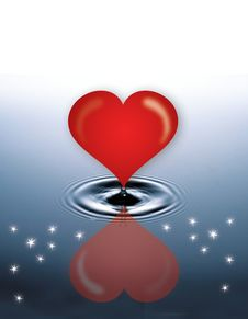 Free Heart In Water Stock Images - 2376194