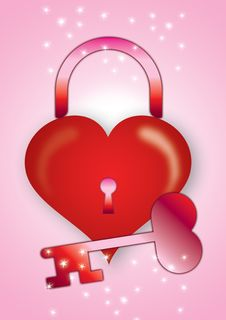 Free Heart With Lock Royalty Free Stock Photos - 2376198