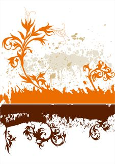 Calligraphy Grunge Background Stock Photo