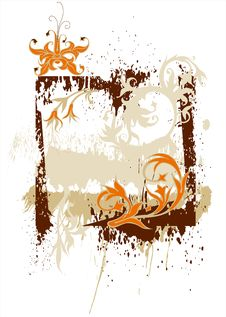 Calligraphy Grunge Background Royalty Free Stock Photo