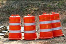 Free Orange Barrels Stock Images - 2377434