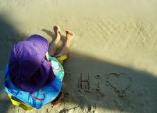 Free Young Child At The Beach Stock Photography - 2377602