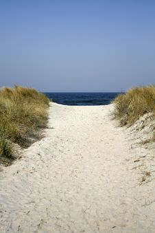 Free Dune Pathway Royalty Free Stock Photos - 2377798