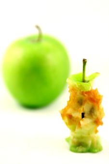 Apple And Core Of Apple Stock Image