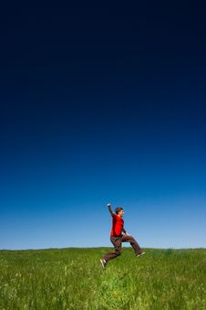Free Happy Man Jumping Stock Images - 2378594