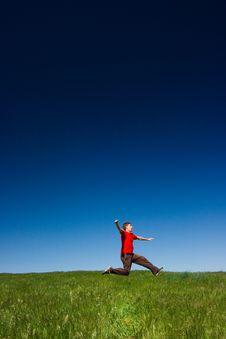 Free Happy Man Jumping Stock Image - 2378621