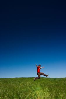 Free Happy Man Jumping Royalty Free Stock Photography - 2378717