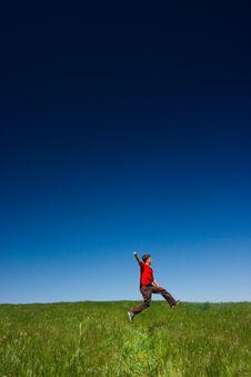 Free Happy Man Jumping Royalty Free Stock Image - 2378796