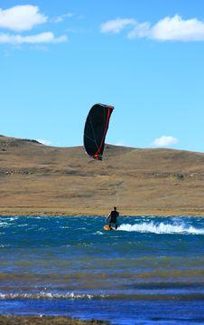 Kitesurfer Cruising Stock Images