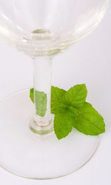 Free Mint Leaves Near Glass Stock Image - 2379331