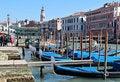 Free Gondola Pier Near Rialto Bridge Stock Photos - 23704563
