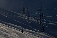 Power Supply Line Royalty Free Stock Images