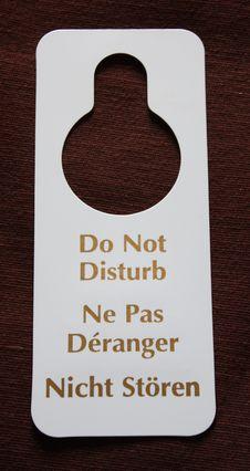 Free Do Not Disturb. Stock Photo - 23701780