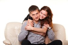 Free Young Woman Hugging Her Boyfriend Stock Photo - 23704510