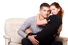 Free Young Woman Sitting On Lap Man Royalty Free Stock Photos - 23704628