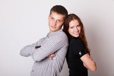 Free Young Couple With Folded Hands Royalty Free Stock Photography - 23704917