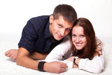 Free Young Man Embraces Woman Stock Images - 23705044