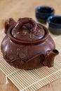 Free Rustic Asian Ceramic Teapot Royalty Free Stock Photo - 23718705
