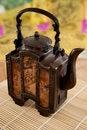 Free Rustic Metal Asian Teapot Stock Photography - 23718712