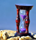 Free Wood Hourglass  On Blue Background Royalty Free Stock Photos - 23718838