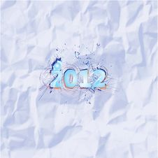 Free 2012 Year Wall Vector Stock Photography - 23711272