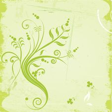 Free Grunge Floral Background Royalty Free Stock Photos - 23711308