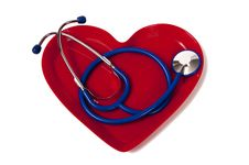 Free Stethoscope In Heart Shaped Plate Royalty Free Stock Image - 23713276